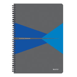 Leitz Office Notebook A4 ruled  wirebound with PP cover  Blue