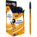 Bic Cristal Fine Ballpoint Black Pack of 50