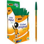 Bic Cristal Fine Ballpoint Green Pack of 50