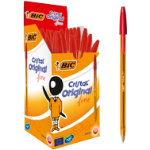Bic Cristal Fine Ballpoint Red Pack of 50