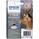 Epson T1306 Original Ink Cartridge C13T13064012 Cyan Magenta Yellow Multipack
