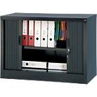 Realspace Pro Tambour Cupboard Black 700H x 1000W x 450Dmm