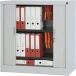 RS Pro Tambour Cupboard Grey 1000H x 1000W x 450Dmm