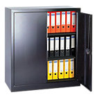 RS Pro Steel 2 Door Cupboard Black 1000H x 950W x 450Dmm