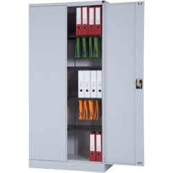 RS Pro 1950mm Steel 2 Door Cupboard Grey