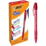 BIC Rollerball Pen Gel ocity Illusion 035 mm red Pack 12