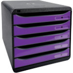 Exacompta Drawer Unit Big Box Black Purple 278 x 347 x 271 mm