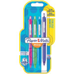 Paper Mate Ballpoint Pen 300RT Turquoise Pink Lime Purple Pack 4