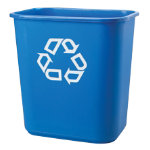 Rubbermaid Recycling Bin Blue 27 Litre