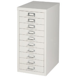 Bisley Multidrawer Cabinet Grey 10 Drawer 590H x 279W x 380D mm