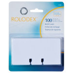 Extra Cards For Rolodex Business Card File 100 Per Pack