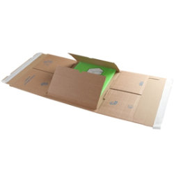 Purely Packaging Kraft peel and seal postal wraps 310 x 250 x 20 100 mm box of 25