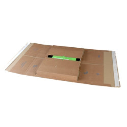 Purely Packaging Kraft peel and seal postal wraps 455 x 320 x 20 100 mm box of 25