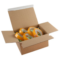 Purely Packaging Kraft peel and seal postal boxes 230 x 160 x 80mm box of 20