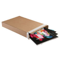 Purely Packaging Kraft peel and seal carton boxes 240 x 165 x 46 mm box of 25