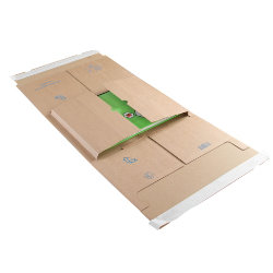 Purely Packaging Kraft peel and seal postal wrap 350 x 320 x 20 100 mm box of 25