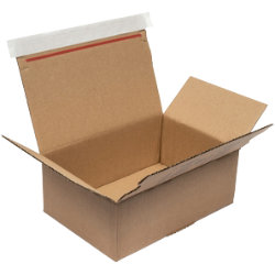 Purely Packaging Kraft peel and seal postal boxes 210 x 180 x 130 mm box of 20