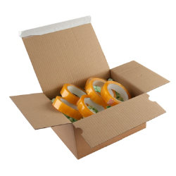 Purely Packaging Kraft peel and seal postal boxes 310 x 230 x 81 160 mm box of 20