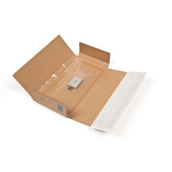 Purely Packaging Kraft peel and seal postal boxes 235 x 122 x 20 mm box of 20