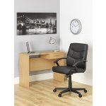 Niceday leather faced chair desk lamp and wall clock