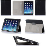 Black PU Folio Case for iPad Air