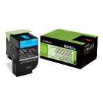 Lexmark 802HC Cyan High Yield Return Program Toner Cartridge
