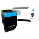 Lexmark 80C2HC0 Original Cyan Toner Cartridge