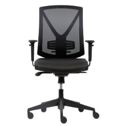 rs soho karl mesh office chair in black by viking. Black Bedroom Furniture Sets. Home Design Ideas