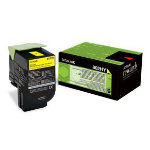 Lexmark 80C2HY0 Original Yellow Toner Cartridge