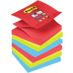 Post it Super Sticky Z Notes Bora Bora Collection 76mm x 76mm 6 pads per pack