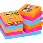 Post it Super Sticky Notes 622 12SS EG Assorted Clear 48 x 48 mm 74gsm