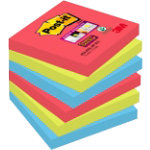 Post it Super Sticky Notes Jewel Pop 76mm x 76mm Pack of 6