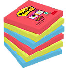 Post it Super Sticky Notes Bora Bora Collection 76mm x 76mm 6 pads per pack