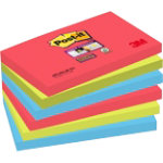 Post it Super Sticky Z Notes Jewel Pop 76mm x 76mm Pack of 6