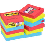 Post it Super Sticky Notes Jewel Pop Assorted 48 x 48 mm 70gsm 6 pieces of 90 sheets