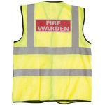 Hi vis Vest Fire Warden Size 3Xl