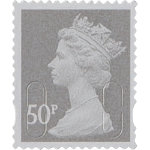Royal Mail 50 pence stamps pack of 25