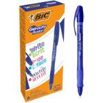BIC Rollerball Pen Gel ocity Illusion 035 mm blue Pack 12