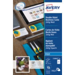 Avery Business cards C32015 25 A4 260gsm White 25 sheets of 8 pieces