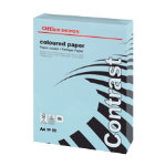 Office Depot A4 Coloured Card Blue 160gsm 250 Sheets per Ream