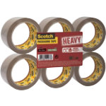 Scotch HV5066F6B Packaging Tape Brown 50 mm x 66 m Pack 6