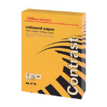 Office Depot A4 Coloured Card Intense Orange 160gsm 250 Sheets Per Pack
