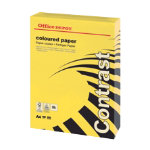 Office Depot A4 Coloured Card Intense Yellow 160gsm 250 Sheets per Ream