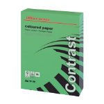 Office Depot A4 Coloured Paper Intense Green 160gsm 250 Sheets per Ream