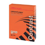 Office Depot A4 Coloured Card Intense Red 160gsm 250 Sheets per Ream