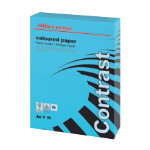 Office Depot A4 Coloured Paper Intense Blue 80gsm 500 Sheets per Ream