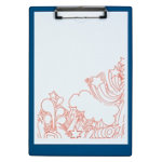 Office Depot A4 Single Clipboard Blue