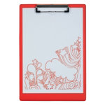 Office Depot A4 Single Clipboard Red