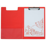Office Depot A4 Foldover Clipboard Red
