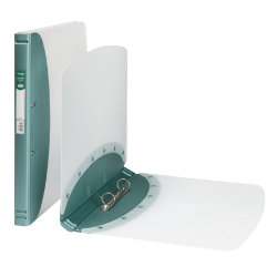 Hermes Polypropylene 2 Ring Binder A4 Metallic Green